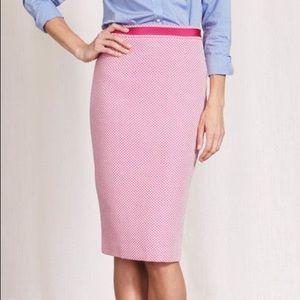Boden pink & white textured Modern pencil skirt 👛